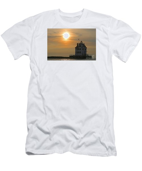 Evening Lighthouse 1 Men's T-Shirt (Athletic Fit)