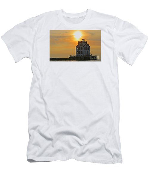 Evening Lighthouse 2 Men's T-Shirt (Athletic Fit)