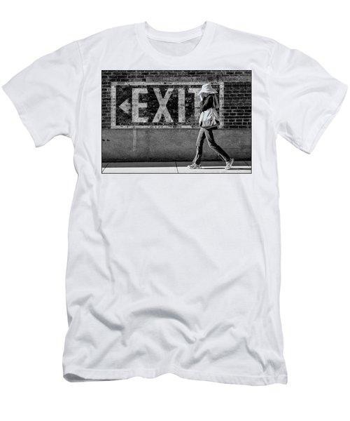 Exit Bw Men's T-Shirt (Athletic Fit)