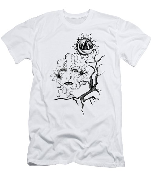 Men's T-Shirt (Slim Fit) featuring the drawing Eye Of The Beholder by Shawna Rowe