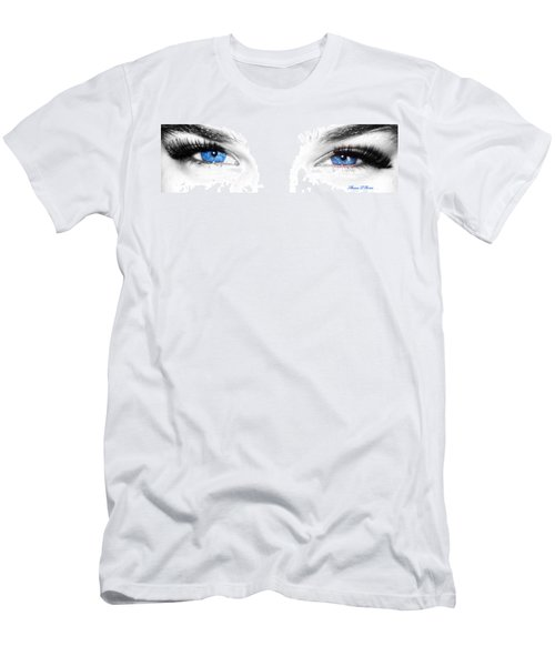 Men's T-Shirt (Slim Fit) featuring the photograph Eye Sea  by Shana Rowe Jackson