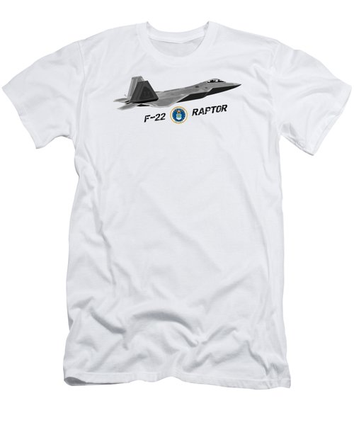 F22 Raptor Png Men's T-Shirt (Athletic Fit)