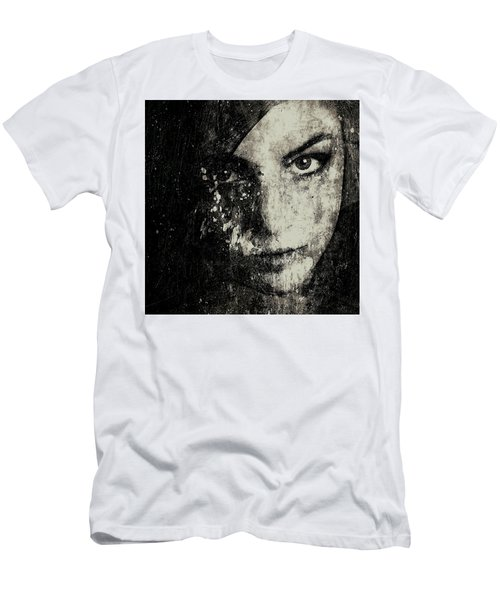 Face In A Dream Grayscale Men's T-Shirt (Athletic Fit)