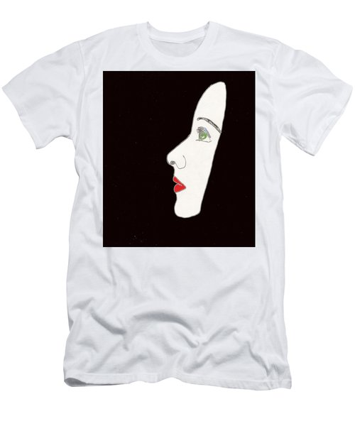 Men's T-Shirt (Athletic Fit) featuring the drawing Face In Profile by W And F Kreations