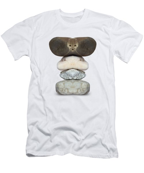 Face Of Alien On The Stone Men's T-Shirt (Athletic Fit)
