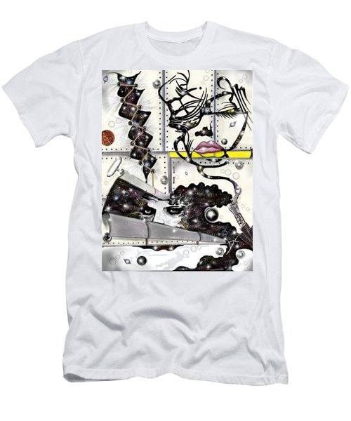 Faces In Space Men's T-Shirt (Athletic Fit)