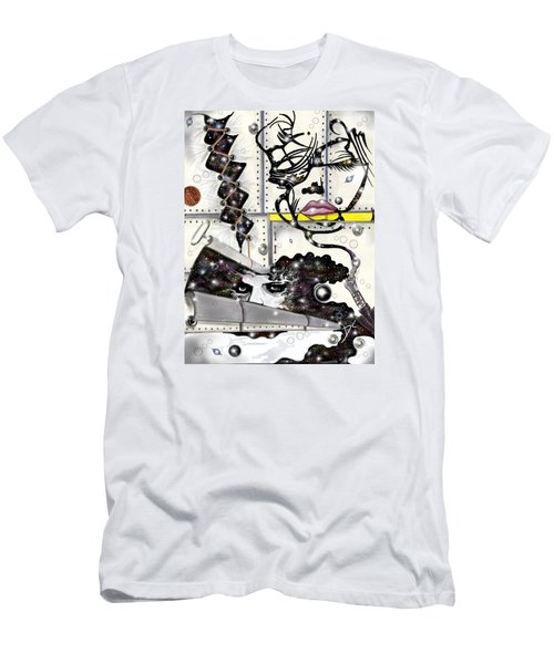 Men's T-Shirt (Athletic Fit) featuring the digital art Faces In Space by Darren Cannell