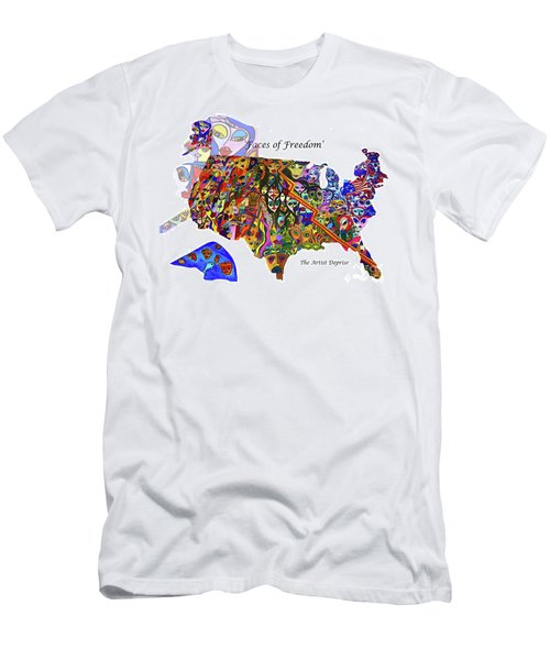 Faces Of Freedom Men's T-Shirt (Athletic Fit)