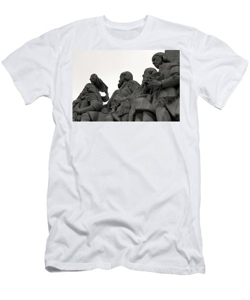 Men's T-Shirt (Slim Fit) featuring the photograph Faces Of The Monument by Lorraine Devon Wilke