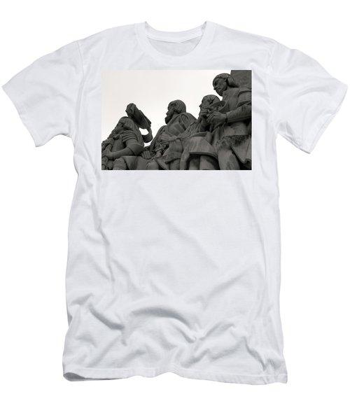 Faces Of The Monument Men's T-Shirt (Slim Fit) by Lorraine Devon Wilke
