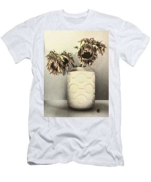Faded Sunflowers Men's T-Shirt (Athletic Fit)