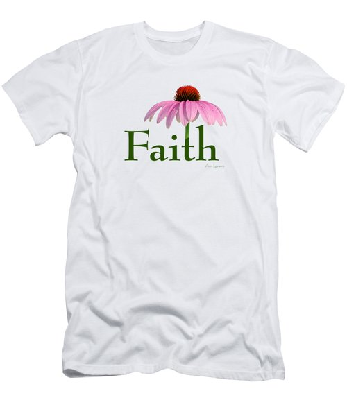 Men's T-Shirt (Slim Fit) featuring the digital art Faith Coneflower Shirt by Ann Lauwers