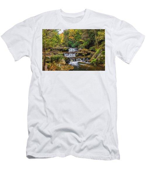 Fall At Bark Camp Creek Men's T-Shirt (Athletic Fit)