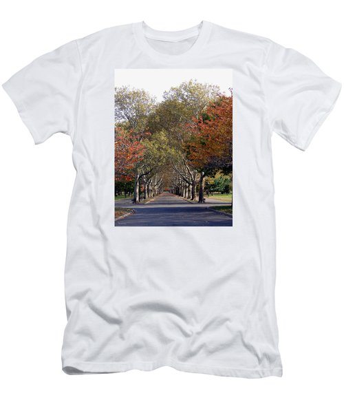 Men's T-Shirt (Slim Fit) featuring the photograph Fall At Corona Park by Suhas Tavkar