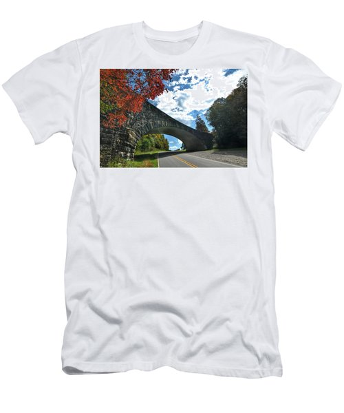 Fall Bridge Men's T-Shirt (Athletic Fit)