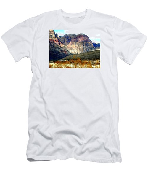 Fall Color In The Winter Season Men's T-Shirt (Athletic Fit)