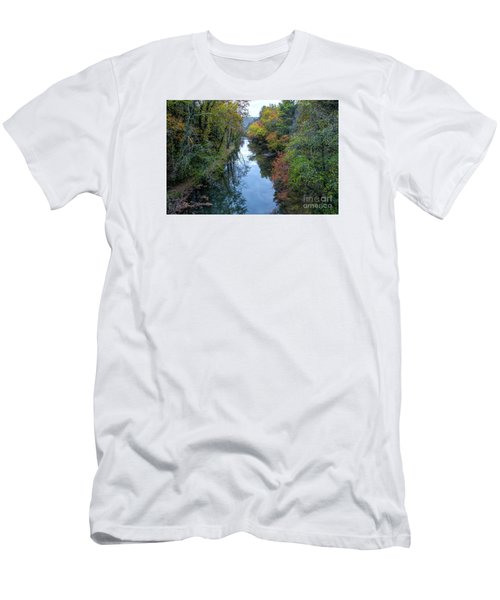 Men's T-Shirt (Slim Fit) featuring the photograph Fall Colors Along The Tallulah River by Barbara Bowen