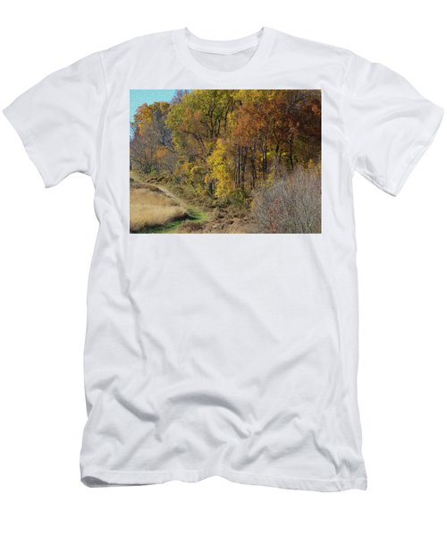 Fall Colors As Oil Men's T-Shirt (Athletic Fit)