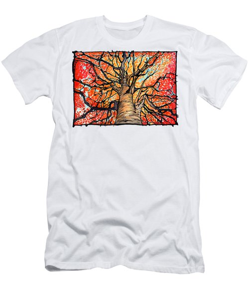 Fall Flush - Looking Up An Autumn Tree Men's T-Shirt (Athletic Fit)