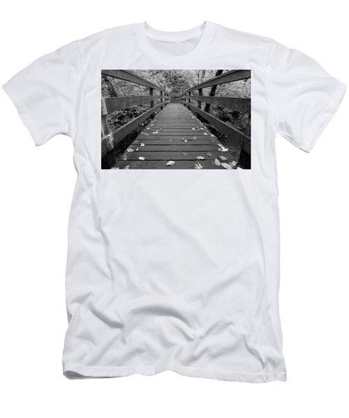 Men's T-Shirt (Slim Fit) featuring the photograph Fall In Oregon Bw by Jonathan Davison