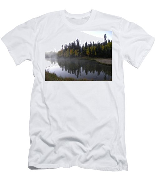 Men's T-Shirt (Athletic Fit) featuring the photograph Kiddie Pond Fall Colors Divide Co by Margarethe Binkley