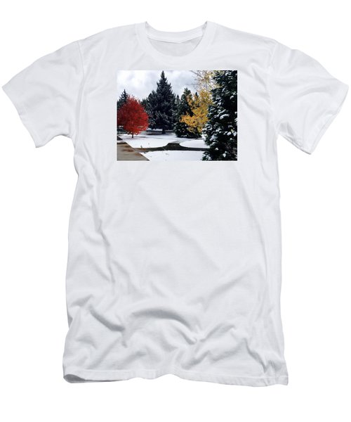 Fall Into Winter Men's T-Shirt (Slim Fit) by Russell Keating