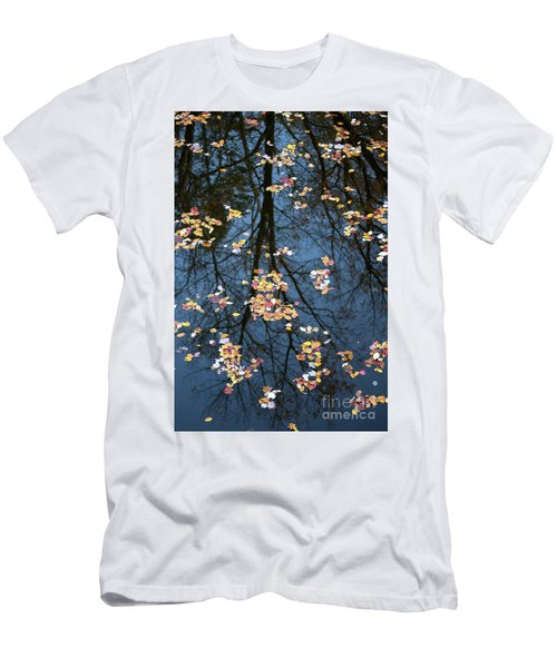 Fallen Leaves In Autumn Lake Men's T-Shirt (Athletic Fit)