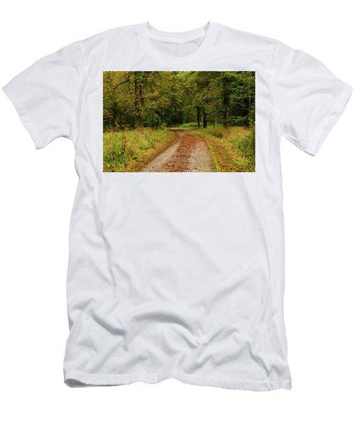 Falling Curves Men's T-Shirt (Athletic Fit)
