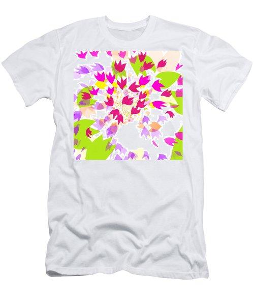 Men's T-Shirt (Slim Fit) featuring the digital art Falling Leaves by Barbara Moignard