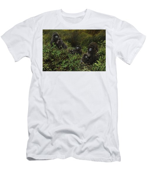 Family Of Gorillas Men's T-Shirt (Athletic Fit)