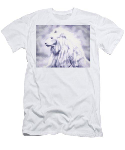 Fantasy White Lion Men's T-Shirt (Athletic Fit)