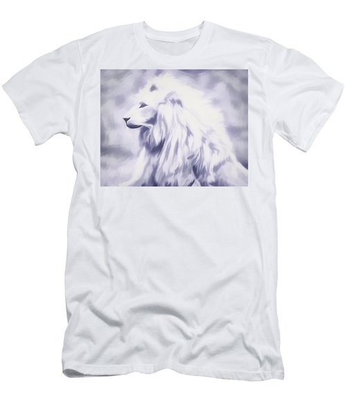 Fantasy White Lion Men's T-Shirt (Athletic Fit)