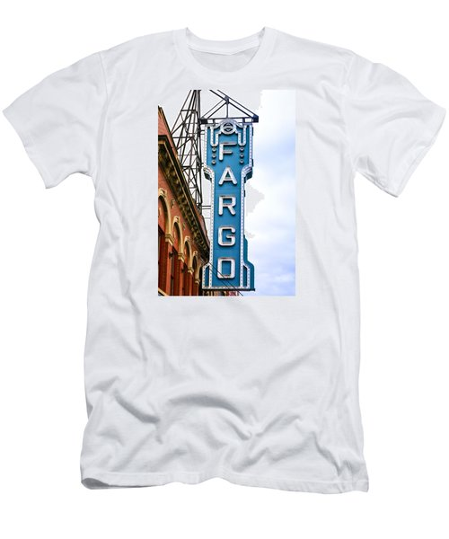 Fargo Blue Theater Sign Men's T-Shirt (Athletic Fit)