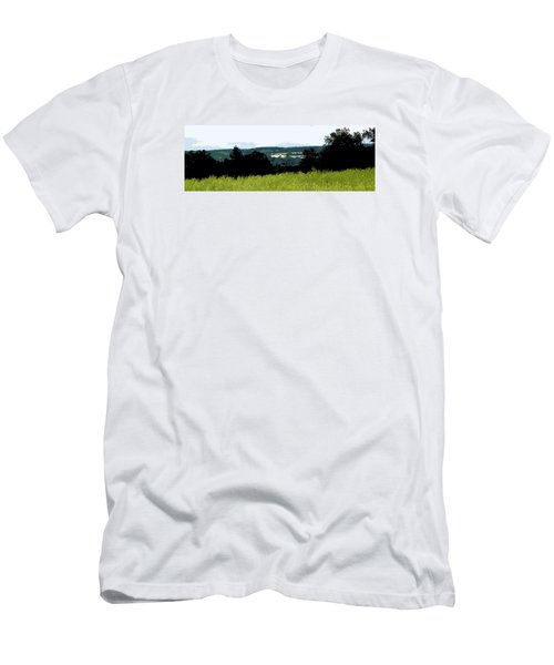 Men's T-Shirt (Slim Fit) featuring the photograph Farm In The Valley by Spyder Webb