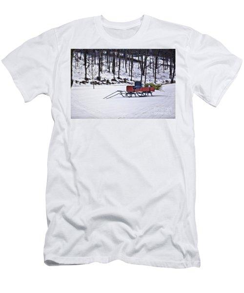 Farm Sleigh Men's T-Shirt (Slim Fit) by Nicki McManus