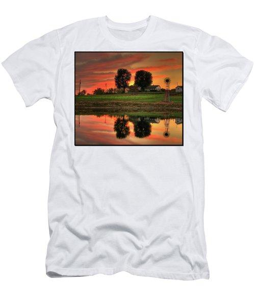 Farm Sunset Men's T-Shirt (Slim Fit) by Farol Tomson
