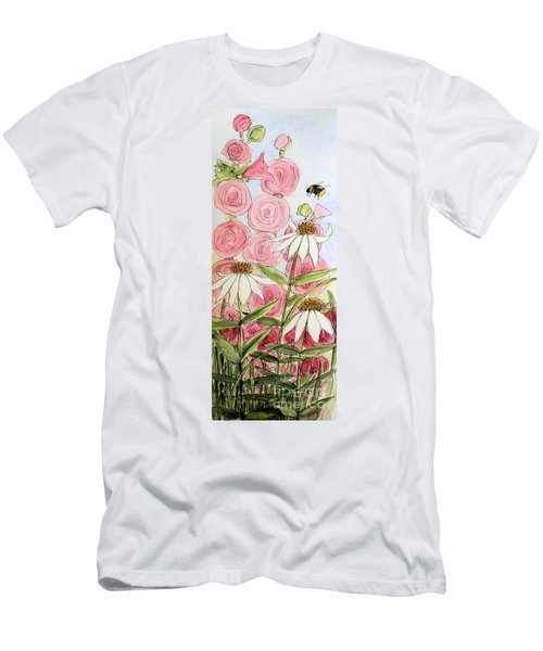 Farmhouse Garden Men's T-Shirt (Slim Fit) by Laurie Rohner