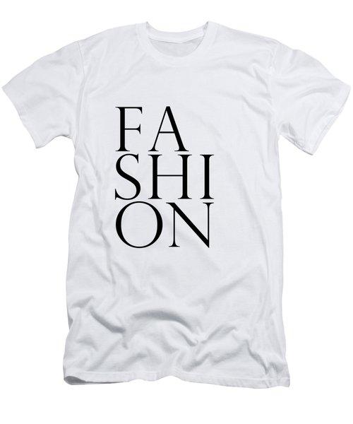 Fashion - Typography Minimalist Print - Black And White 01 Men's T-Shirt (Athletic Fit)