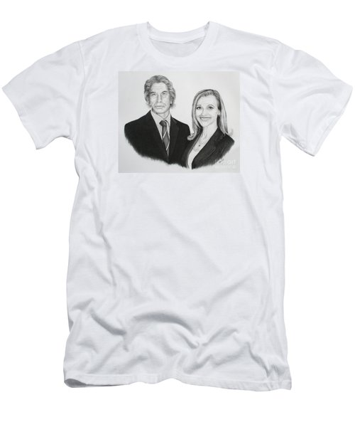 Father And Daughter Men's T-Shirt (Slim Fit) by Mike Ivey