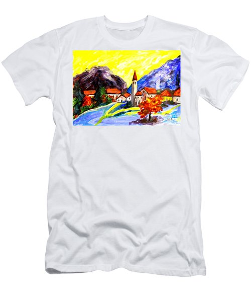 Fauvist Paint Village.    Men's T-Shirt (Athletic Fit)