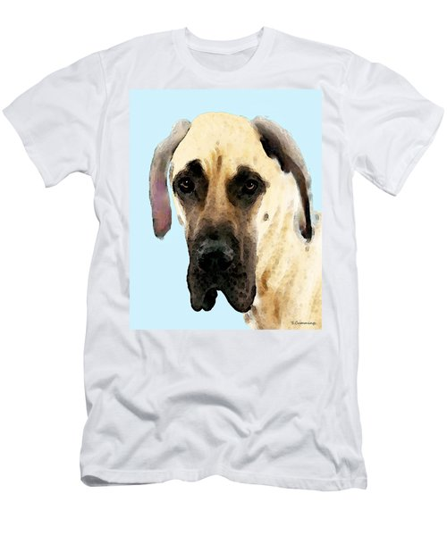 Fawn Great Dane Dog Art Painting Men's T-Shirt (Athletic Fit)