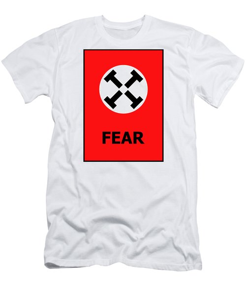 Fear Men's T-Shirt (Slim Fit) by Richard Reeve