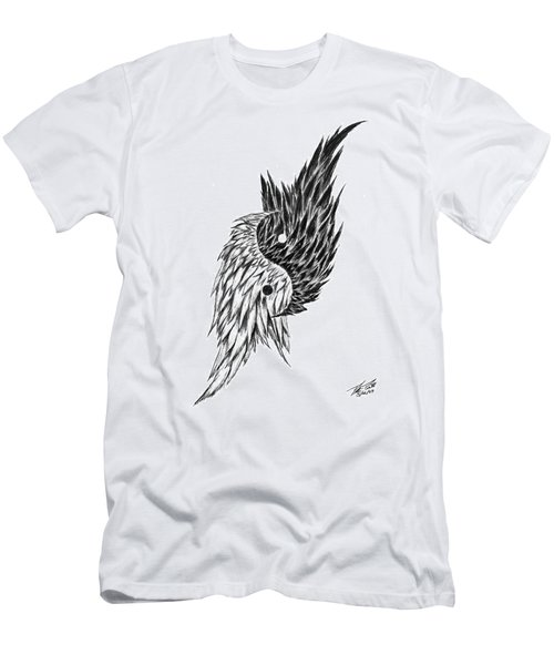 Feathered Ying Yang  Men's T-Shirt (Athletic Fit)