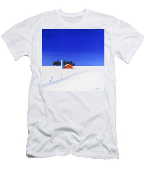 Men's T-Shirt (Slim Fit) featuring the painting February Fields by Jo Appleby