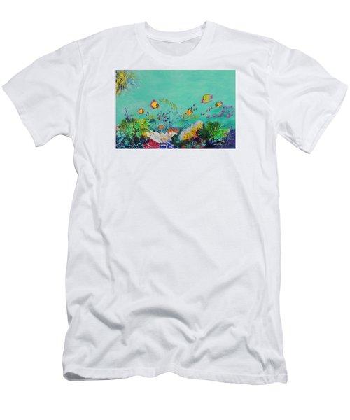 Feeding Time Men's T-Shirt (Slim Fit) by Lyn Olsen