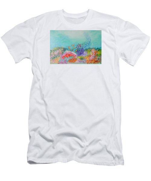 Feeding Time On The Reef Men's T-Shirt (Slim Fit) by Lyn Olsen