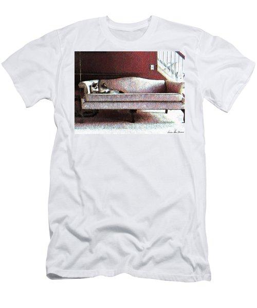 Felines Be Like... Men's T-Shirt (Slim Fit) by Iowan Stone-Flowers