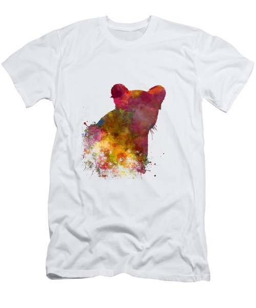 Female Lion 02 In Watercolor Men's T-Shirt (Slim Fit) by Pablo Romero