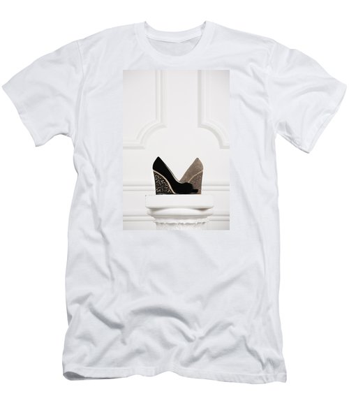 Men's T-Shirt (Slim Fit) featuring the photograph Female Shoes by Andrey  Godyaykin