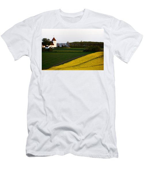 Femoe Fields And Church Men's T-Shirt (Athletic Fit)